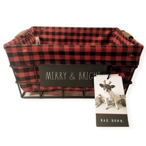 New Rae Dunn Christmas Wire Storage Basket